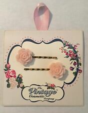 The Vintage Cosmetic Women's 1 Set Soft Pink Rose Bobby Pins **