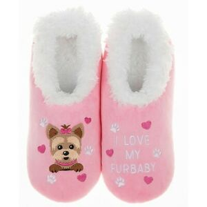 Ladies Slipper Snoozies! Pink Fur Baby Design Ideal  Gift
