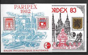 BLOC C.N.E.P. N°3A ET N°4A  1982/1983 LUXE xx cote 29€