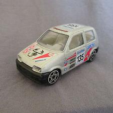 20E Burago 4138 Fiat Cinquecento 500 Abarth Racing # 135 Monte Carlo 1:43