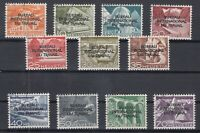 X744/ SWITZERLAND – OFFICIAL – MI # 83 / 93 COMPLETE USED – CV 155 $