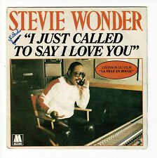 """Stevie WONDER Vinyl 45 tours 7"""" I JUST CALLED TO SAY I LOVE YOU - MOTOWN 61451"""
