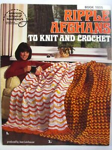 Ripple Afghans to Knit and Crochet Pattern Leaflet 1978 ASN 1005 Jean Leinhauser