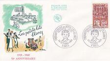 FRANCE 1968 FDC CINQUANTENAIRE DES PETITS LITS BLANCS YT 1575