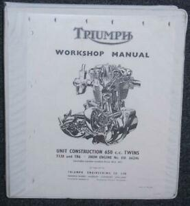 Triumph T120R 650cc from engine #DU101 photocopy Service Manual @