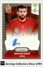 2014 Panini FIFA World Cup Soccer Signature Card Gerard Pique (Spain)