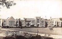A43/ Almond New York NY Real Photo RPPC Postcard 1950 High School Building