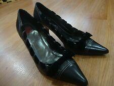 "Ladies Coach ""SUE"" Shoes Size 7 B Brown Suede High Heels Pumps Snake Skin"