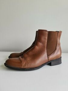 Sandler Brown Leather Boots Sz 38 / 8