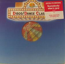 "DISCO DANCE CLASSICS JOCELYN BROWN SOMEBODY ELSE´S GUY 12"" MAXI SINGLE (h506)"
