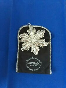 1974 Gorham Sterling Silver Christmas Snowflake Limited Ornament with Box & Bag