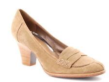 New VIA SPIGA Women Suede Pump Heel Dress Penny Loafer Comfort Shoes Sz 7.5 M