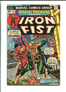 MARVEL PREMIERE #16 - 2ND IRON FIST APPEARANCE (4.5) 1974