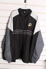 Washington Redskins Reebok NFL Windbreaker Jacket - Black - Size 2XL (aa8)