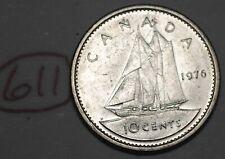 Canada 1976 10 cents Elizabeth II Canadian Dime Lot #611