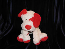 ANIMAL ADVENTURE STUFFED PLUSH PUPPY DOG 2006 PINK RED HEART RIBBON BOW