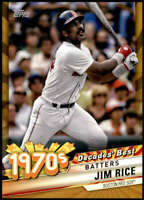Jim Rice 2020 Topps Decade's Best Series 2 5x7 Gold #DB-42 /10 Red Sox