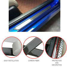4x Accessories Car Truck Pickup Door Sill Protector Carbon Fiber Stickers Cover