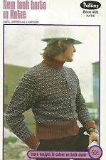 Patons Knitting Pattern Book # 405 In Katie - Jumpers, Cardigans, Vests