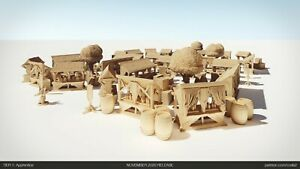 Tabletop Terrain Roads Market Square 28mm For Warhammer/Age Of Sigmar / Dnd