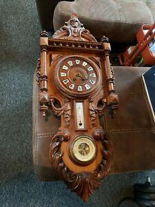 Antique Wall Clock Regulator Large
