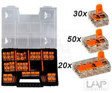 WAGO Sortimentbox Set Variobox Wagoklemmen Box Hebelklemmen | 100 Stück