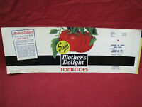 Vintage Mothers Delight Tomatoes Advertising Paper label