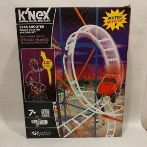 K'NEX Star Shooter Motorized Roller Coaster Building Set 432 Piece Open Box
