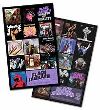 """BLACK SABBATH - twin pack discography magnet set (two 3.75"""" x 4.75"""" magnets)"""