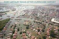 Port Arthur Texas After Hurricane Harvey TX Flooding Helicopter Rescue, Postcard