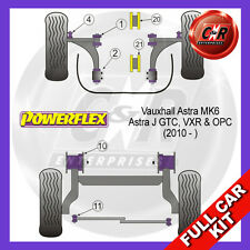 Opel Astra MK6 - Astra J GTC (10 on) Powerflex Complete Bush Kit