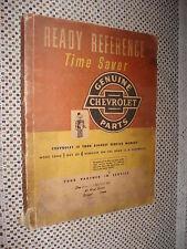 1952 & Prior Chevy Parts Book Catalog Book Original Wow