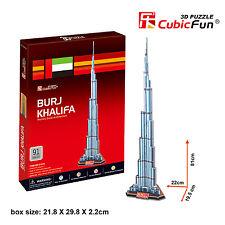 New Burj Khalifa Dubai Tallest Building 3D Model Jigsaw Puzzle 91 Pieces C151H