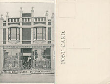 RARE postcard F A Crook bicycle builder shopfront Brighton Victoria Australia