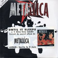 ★☆★ CD SINGLE METALLICA	Until it sleeps 2-track CARD SLEEVE french sticker ★☆★