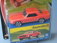 Matchbox Superfast 1969 Chevy Camaro Orange Body Muscle Car Toy USA