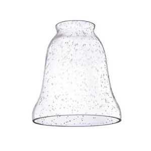 2-1/4-Inch Clear Seeded Glass Bell