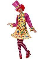 SALE Smiffy's Clown Lady - Ladies Halloween Fancy Dress Circus Costume