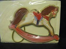"Hallmark Cards Christmas Keeper ""Dappled Rocking Horse"" Die Cut Ornament, MIP"