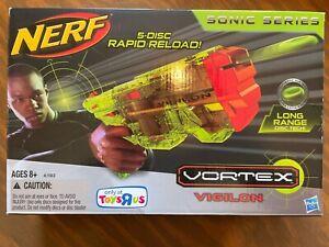 Brand New Nerf Vortex Vigilon Sonic Series Clear Green In Box