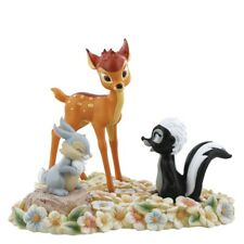 Enchanted Disney Bambi - Pretty Flower (Bambi, Thumper, & Flower Figurine)