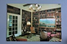 R&L Postcard: Chartwell, Kent, Library, Book Shelves
