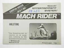 MACH RIDER | Bienengräber Anleitung Manual Nintendo NES x | NESE-P-MR #3