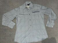 "Men's G Star Raw ""Just The Product"" Grey Long Sleeve Button Up Shirt Size XL"