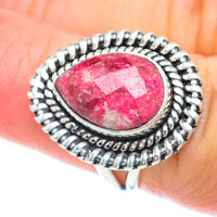 Thulite 925 Sterling Silver Ring Size 6.5 Ana Co Jewelry R56319F