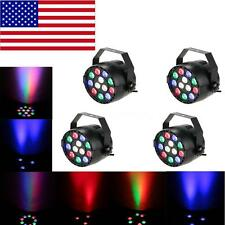 4Pcs LIXADA 15W RGBW LED PAR Stage Light Lighting Strobe DMX-512 8CH Bar