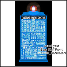 Fridge Fun Refrigerator Magnet DOCTOR WHO TARDIS:  Dr Who Quote Collection