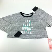 MinkPink Women's Slouchy Cropped Graphic Sweatshirt Size S