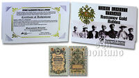 THE LAST TSAR: ROMANOV GOLD RUBLES 1909 RUSSIA 5 Rubles P-10 Banknote in Folder