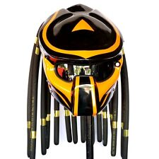 Glossy Black Yellow Claw Predator Motorcycle Helmet Biker Custom Lamp Free Ship